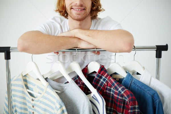 Man with different shirts Stock photo © pressmaster