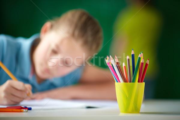 Multi-colored pencils Stock photo © pressmaster