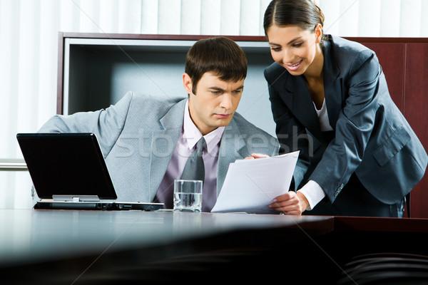 Сток-фото: бизнеса · плана · фото · довольно · улыбаясь