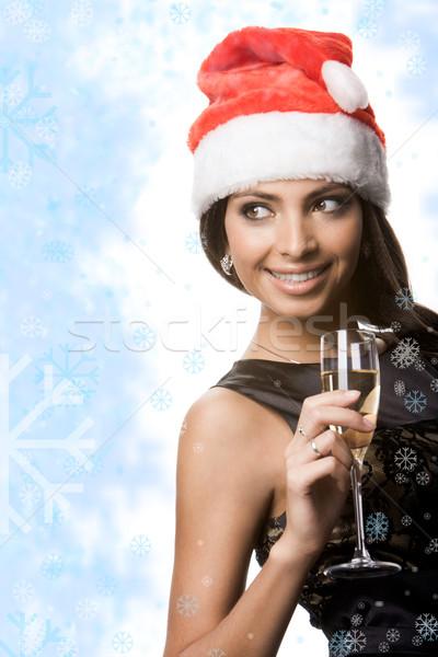Pretty Santa Stock photo © pressmaster