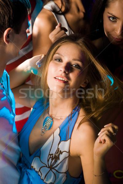 Stock fotó: Pompás · táncos · káprázatos · nő · okos · ruha