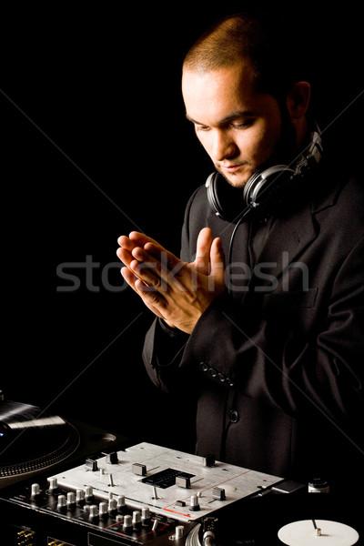 Baan deejay portret knap werk muziek Stockfoto © pressmaster