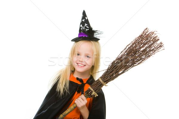 Girl in Halloween attire Stock photo © pressmaster