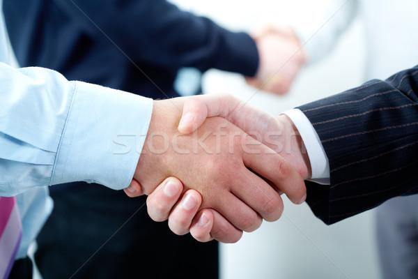 Rząd działalności podpisania handshake garnitur Zdjęcia stock © pressmaster