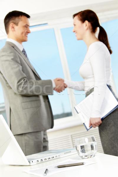Onderhandelingen foto business objecten werkplek Stockfoto © pressmaster