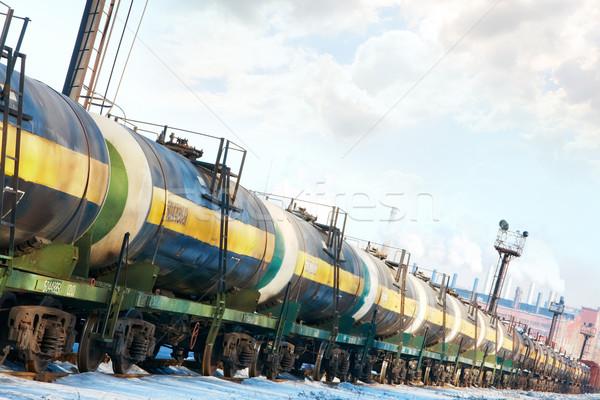 Locomotief ingesteld olie brandstof vervoer business Stockfoto © pressmaster