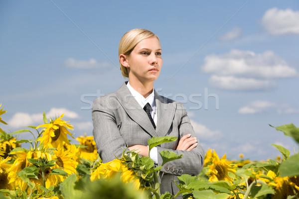 Sérieux Homme portrait affaires dame pliées Photo stock © pressmaster