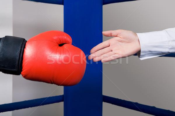 üdvözlet fotó női kéz nyújtás üzleti partner Stock fotó © pressmaster