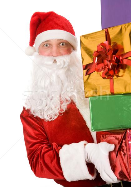 Santa with giftboxes Stock photo © pressmaster