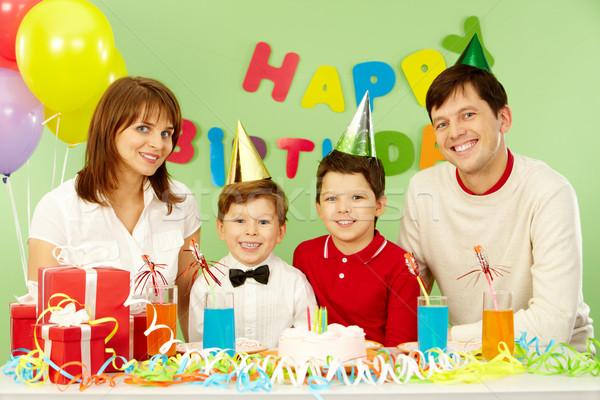 Ocasião retrato família aniversário mulher Foto stock © pressmaster