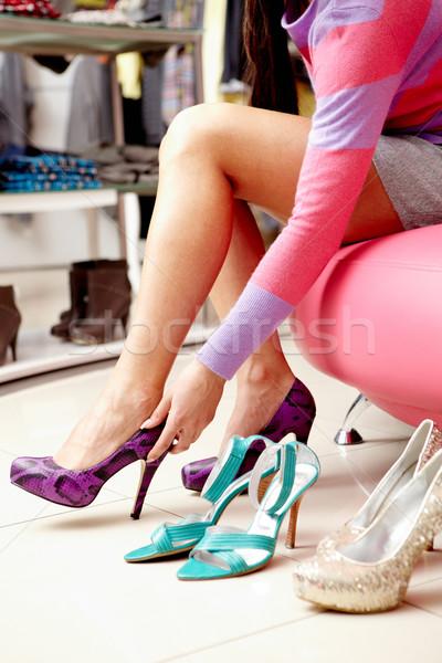 Trying on shoes Stock photo © pressmaster