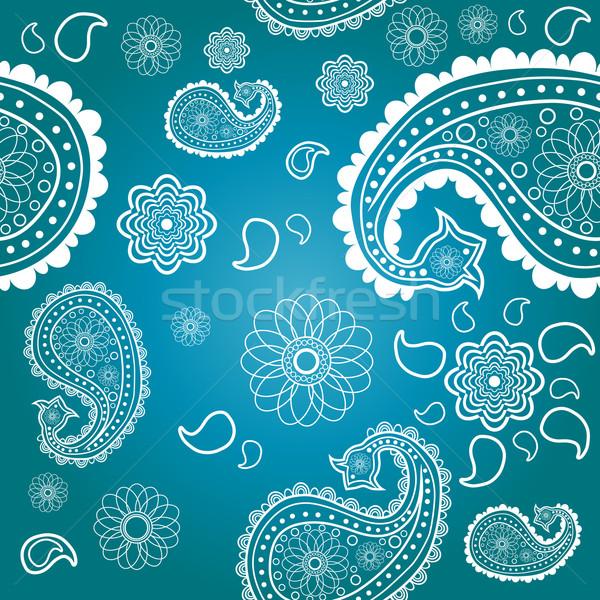 Stok fotoğraf: Doğu · model · mavi · doku · dizayn · arka · plan