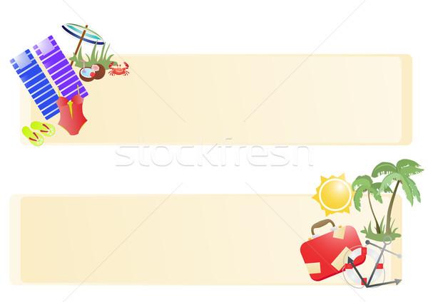 vacation-banners Stock photo © pressmaster