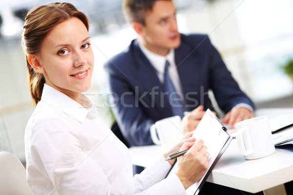 Secretary with notes  Stock photo © pressmaster