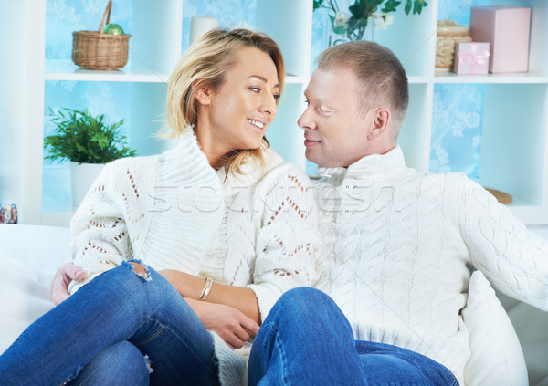Couple in pullovers Stock photo © pressmaster