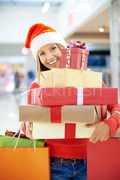 Happy Christmas girl Stock photo © pressmaster