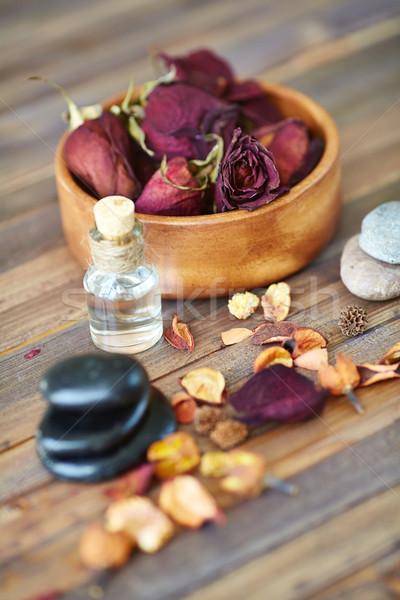 Beleza coleção secar estância termal pedras aromático Foto stock © pressmaster