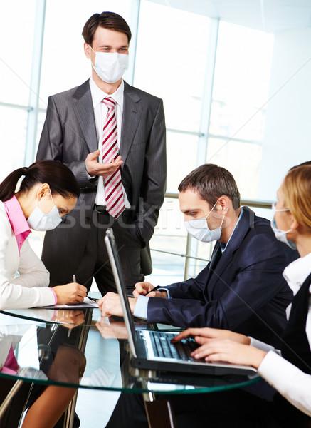 Interacción imagen de trabajo oficina reunión Foto stock © pressmaster