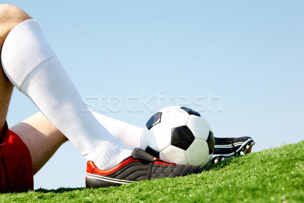 Relaxare orizontala imagine player picior Imagine de stoc © pressmaster