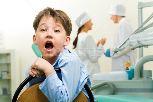 Cute chico retrato dentista habitación Foto stock © pressmaster