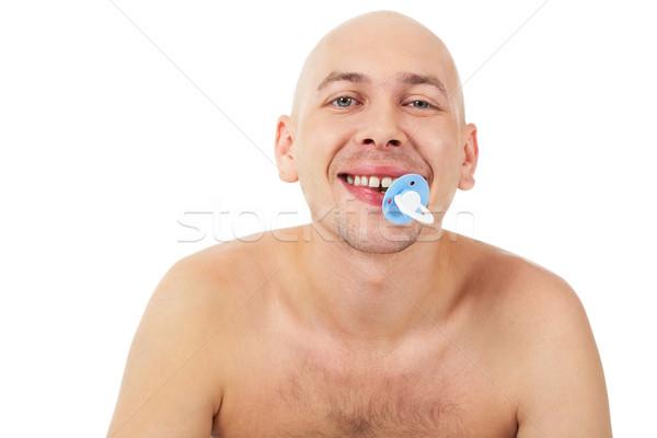 Weinig man portret kaal gezicht kind Stockfoto © pressmaster