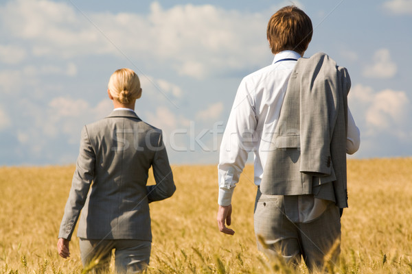 Achteraanzicht suits lopen business Stockfoto © pressmaster