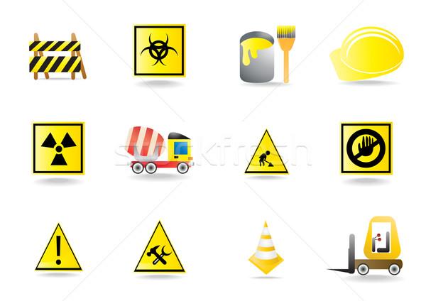 construction icons Stock photo © pressmaster