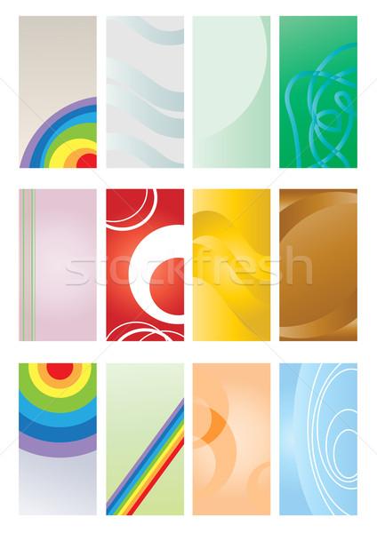 Stok fotoğraf: Ayarlamak · renkli · kâğıt · dizayn · sanat