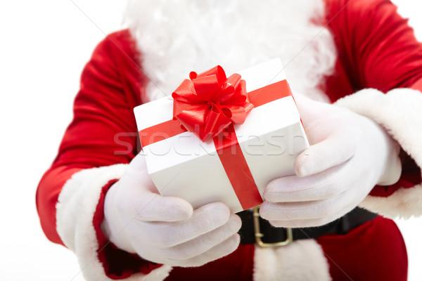 Hojność Fotografia Święty mikołaj ręce czerwony Zdjęcia stock © pressmaster