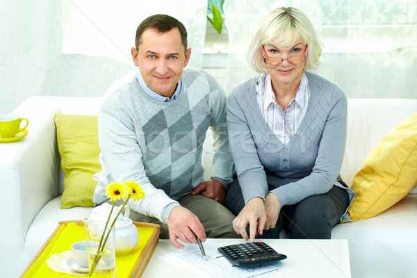 Pensioners at home Stock photo © pressmaster