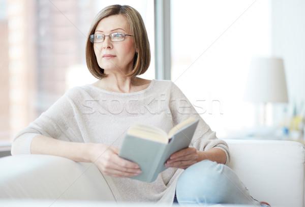 Reader at home Stock photo © pressmaster
