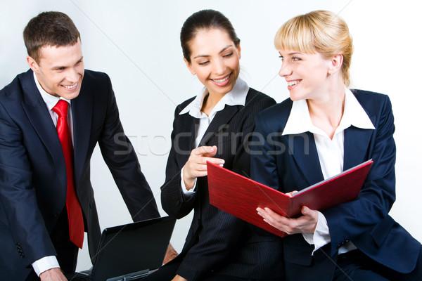Sharing working idea Stock photo © pressmaster