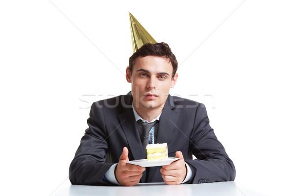 Urodziny pracy portret młodych biznesmen cap Zdjęcia stock © pressmaster