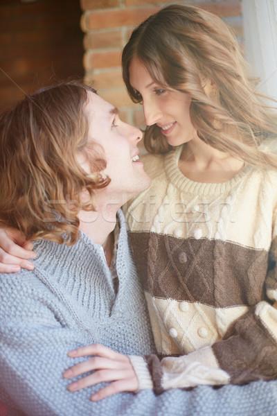情侶 肖像 戀愛的 年輕 日期 商業照片 © pressmaster