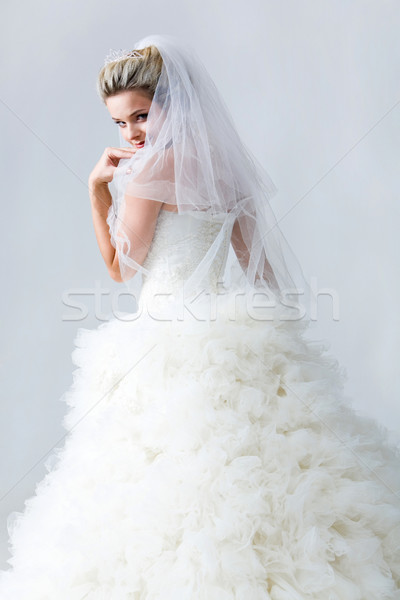 Stock photo: Timid fiancee