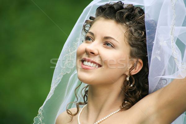 Stijlvol verloofde portret glimlachend jonge natuurlijke Stockfoto © pressmaster