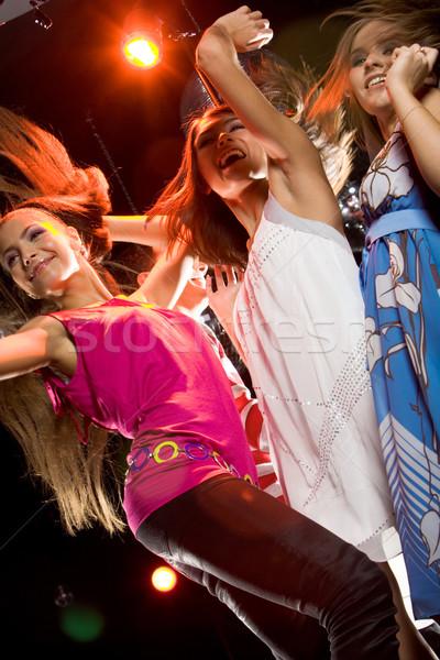 Clubbing beneden meisjes dansen Stockfoto © pressmaster
