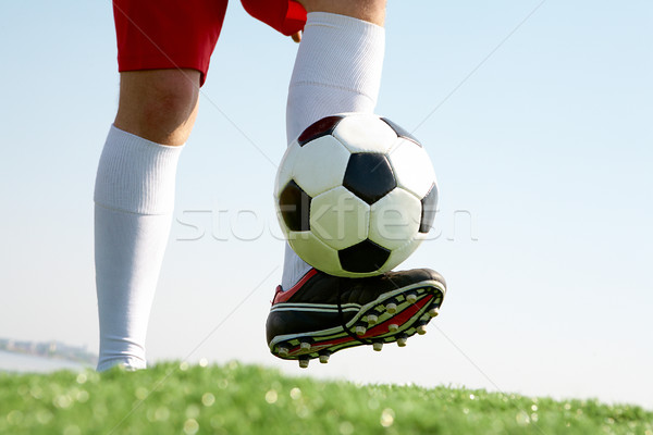 Jouer football horizontal image ballon sport Photo stock © pressmaster