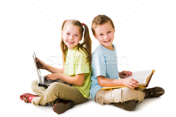 Intelligent leerlingen smart meisje laptop cute Stockfoto © pressmaster