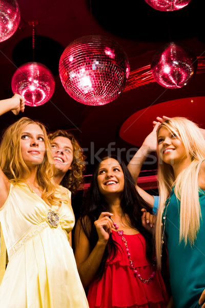 Dinámica amigos bastante ninas movimiento disco Foto stock © pressmaster