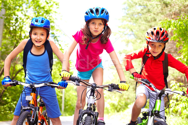 Children on bikes  Stock photo © pressmaster