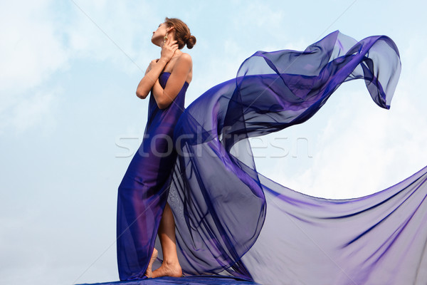 Woman in shawl Stock photo © pressmaster