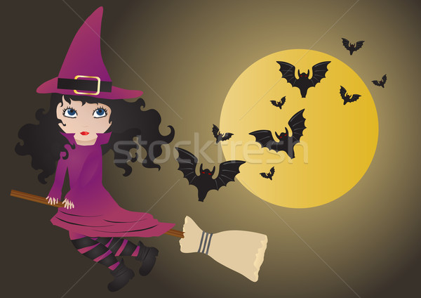 witch with bats       Stock photo © pressmaster