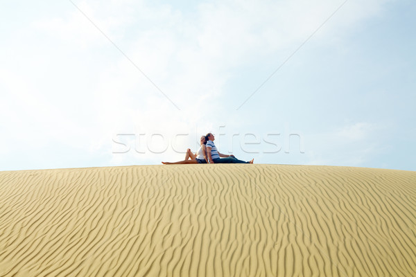 Couple on sand Stock photo © pressmaster