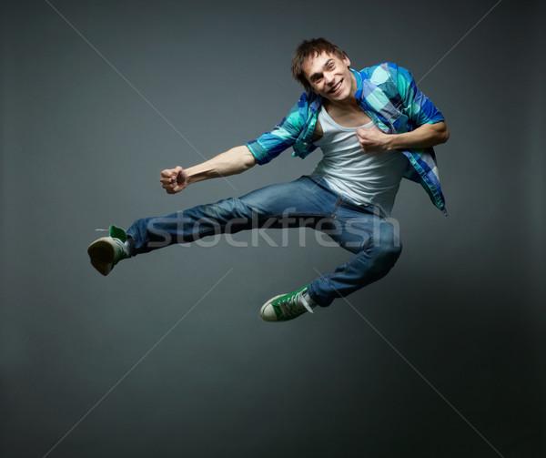 Hovering in jump Stock photo © pressmaster