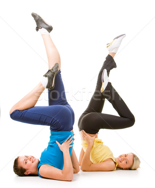 Energetic ladies Stock photo © pressmaster