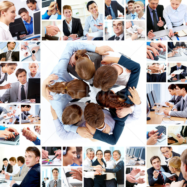 Teamarbeit Collage Business Teams Technologie Stock foto © pressmaster