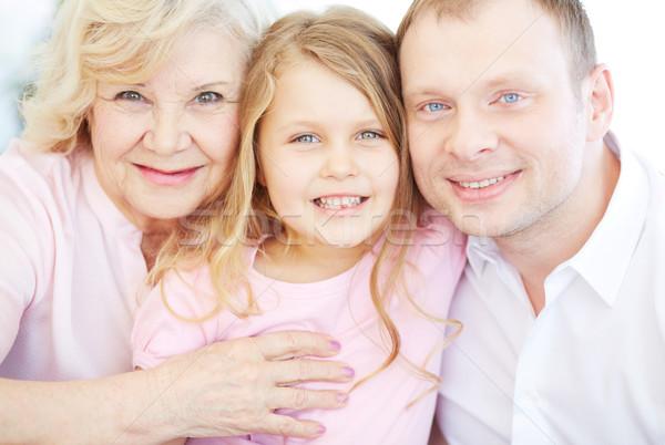 Genegenheid portret senior vrouw kleindochter zoon Stockfoto © pressmaster