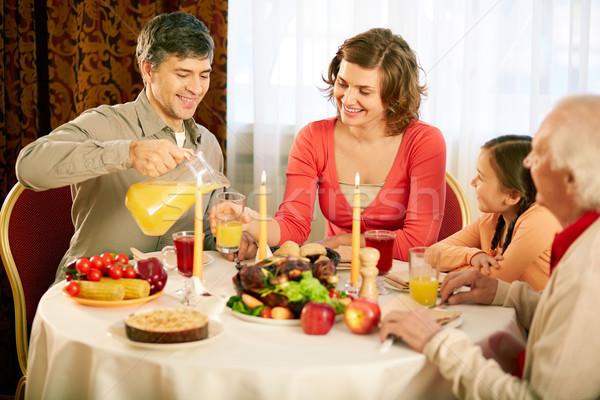 Traditional Thanksgiving dinner Stock photo © pressmaster
