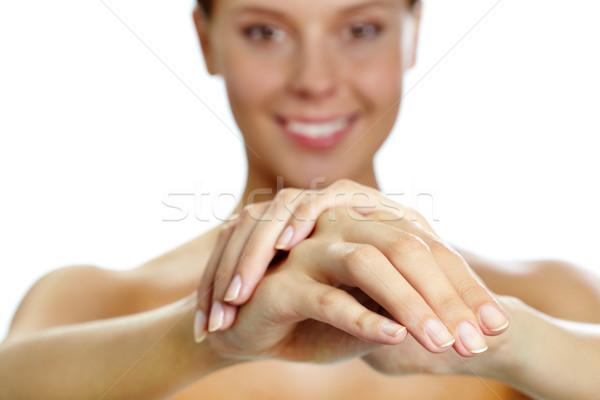 Női kezek kép emberi nő fürdő Stock fotó © pressmaster